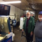 03/2016  TV GEIST Parkersburg, WV  Tim Geist and Lou on left. Lou is 96 years  old and sharp as a tack. Used to live in  Cleveland area and worked for  Warner & Swasey. He's an engineer  and went to Syracuse and got his Masters from Case in 1943!